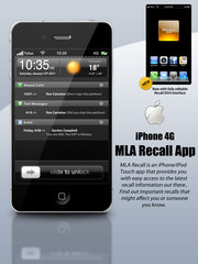 The MLA Recall iPhone app